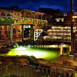 Projeto de móveis feitos sob medida para Brewpub por FurnitureRoots Byg Brewski Open Air Pub Bengaluru 7