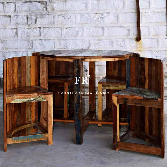 Distressed Compact Dining Set