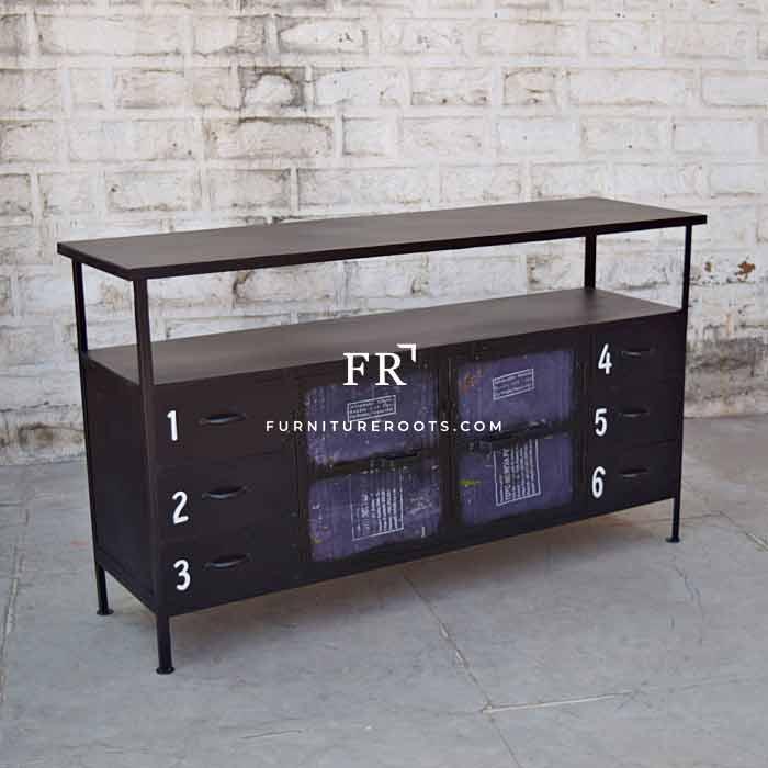 Modernist Metal Storage Sideboard