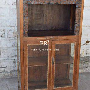 Colonial Handcrafted Curio & China Display Cabinet in Solid Teak Wood