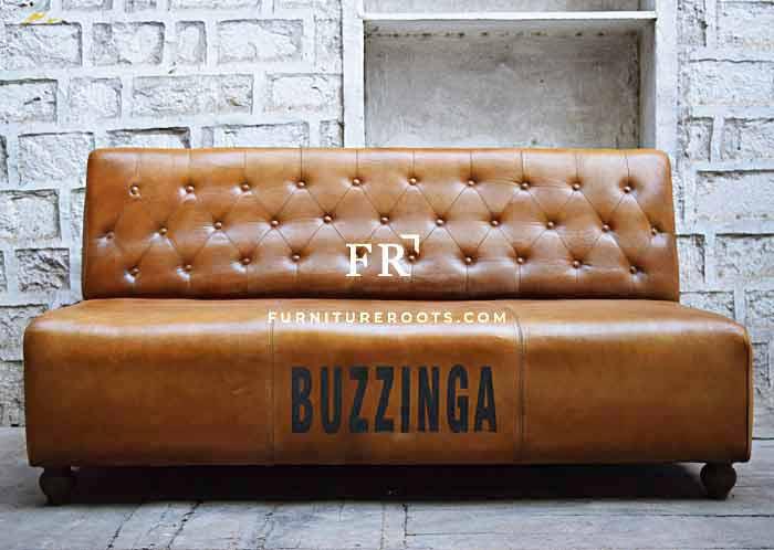 Avant-Garde Leather Slipper Sofa