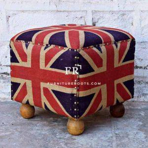 England Flat Pouf