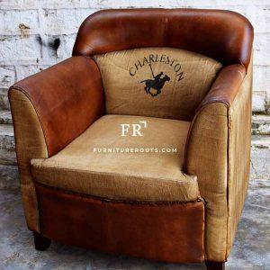 Industrial Lawson Leather Sofa
