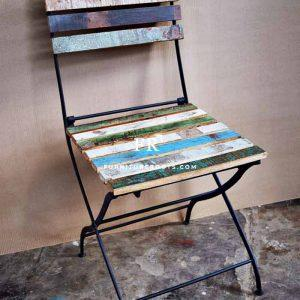 Boho Chic Folding Restaurant Chair