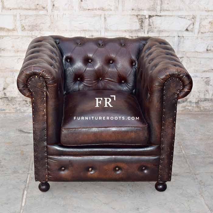 Designer Distress Chesterfield Armchair – Designer Sofas | FurnitureRoots