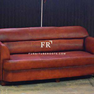 High-Back Lawson Restaurant Sofa in Leather