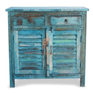 "FR Cabinet Furniture Series Shabby Chic Accent Server 36 ""di larghezza in finitura verde acqua invecchiato"