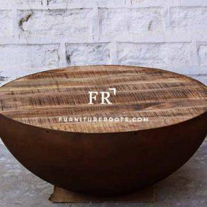 Rustic Aara Finish Coffee Table