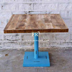 Blue Distress Aara Finish Folding Table