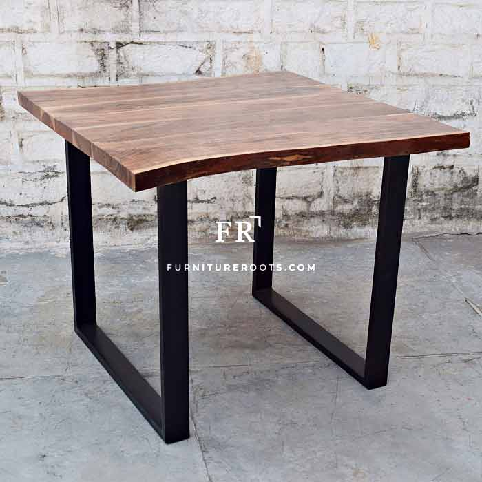 Dazzling Wood Live-Edge Folding Restaurant Table