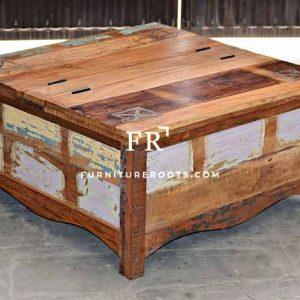 Handcrafted Coffee Table – Vintage Indian Furniture | FurnitureRoots