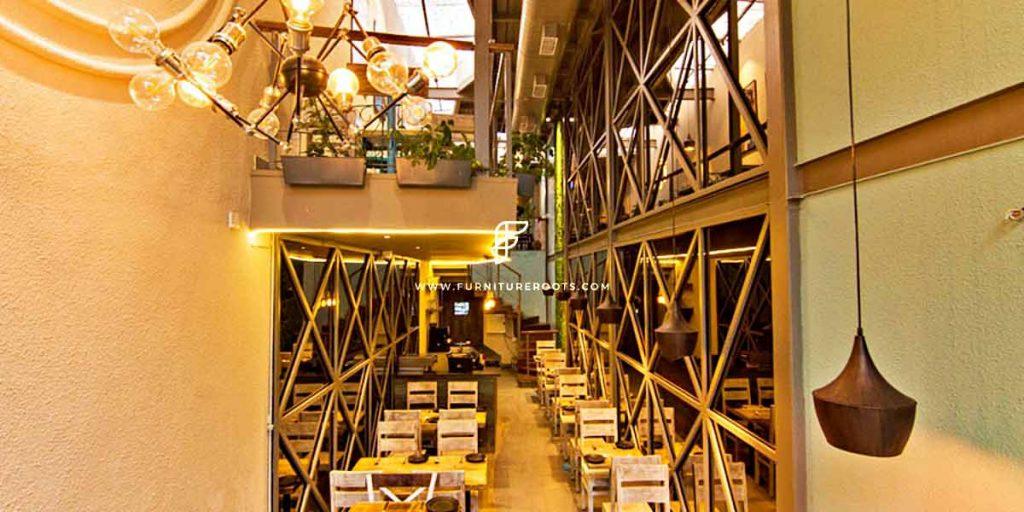 Proyecto de mobiliario de restaurante gourmet a medida de FurnitureRoots Taiki 2