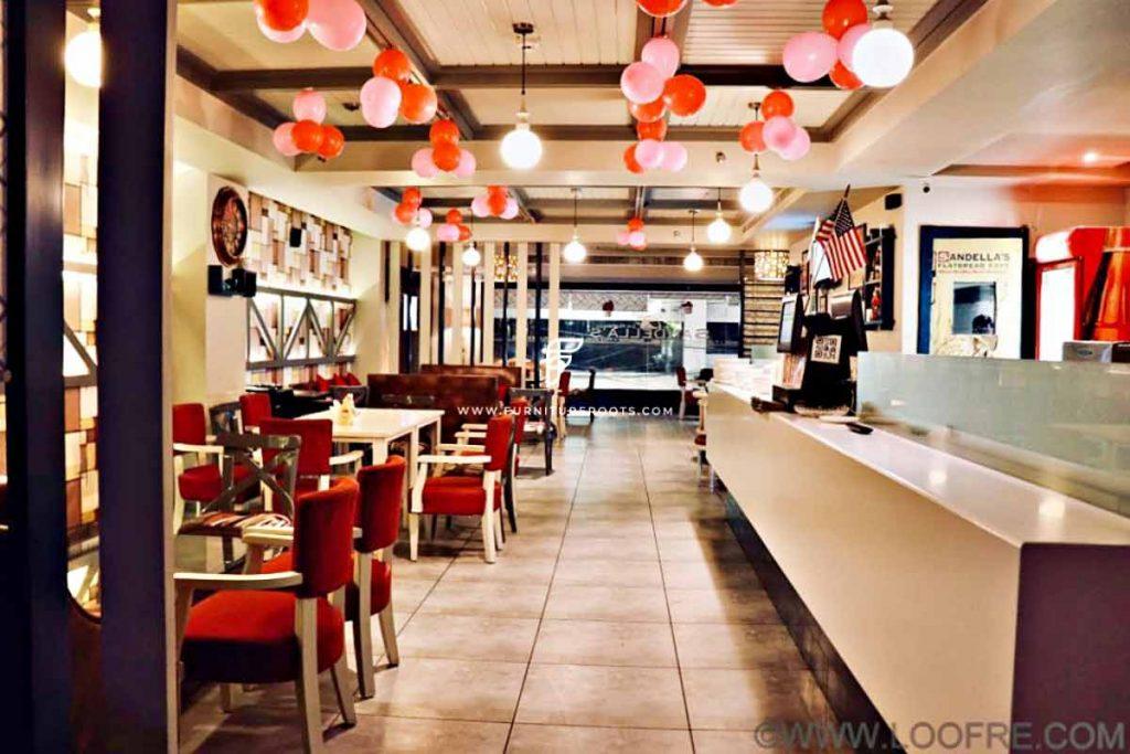 Proyecto de muebles de pastelería a medida de FurnitureRoots Sandella's Flatbread Cafe 1