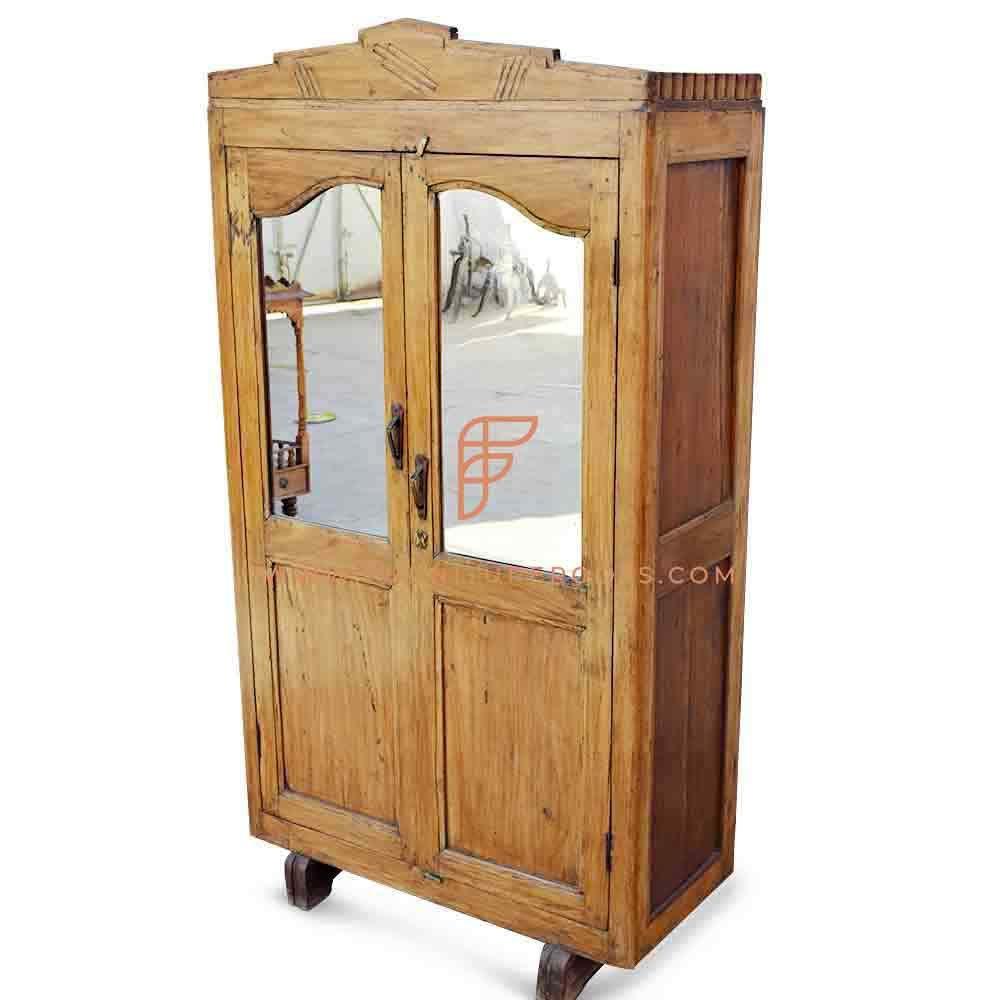 FR Wardrobes Series Vintage-Style Reclaimed Teak Wood Wardrobe