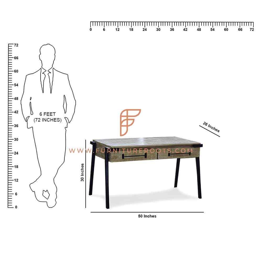 Table d'étude de designer de la série FR Desks en craie blanche
