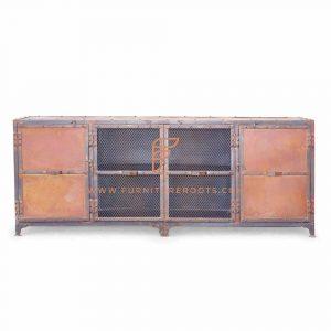 Avant-Garde Art Deco TV Cabinet