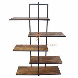 Industrielles Design ZigZag Ladder-Style Bücherregal 5-Tier