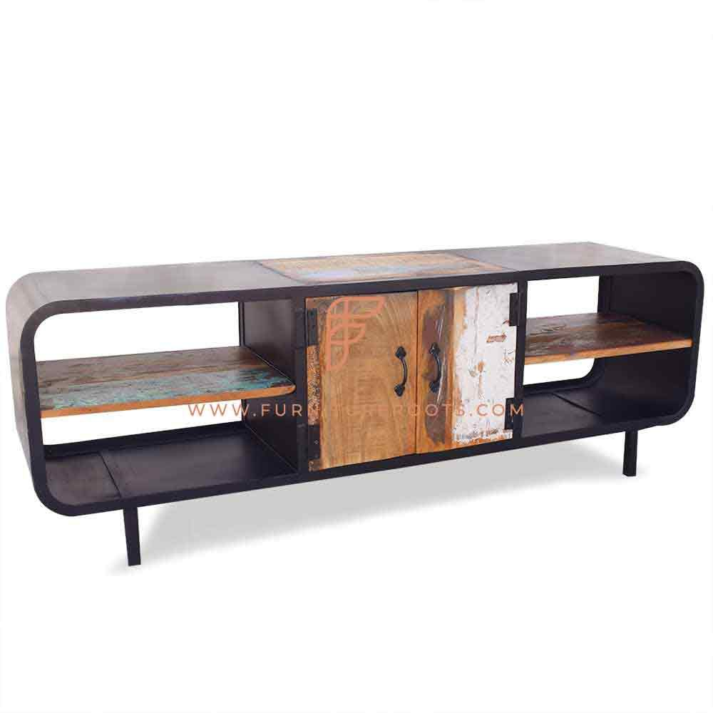 Buy Fr Cabinets Series Industrial Design Tv Stand In Metal Reclaimed Wood Online Tv Stands Entertainment Centres Hotel And Resort Cabinets Home Commercial Furniture Furnitureroots Product
