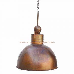 Подвесной светильник с антикварным куполом