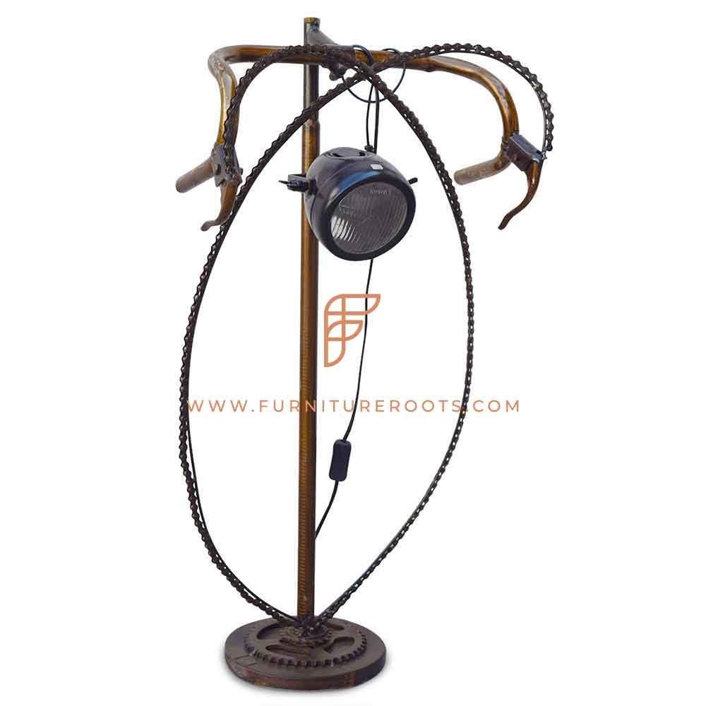 FR Lamps Series Retro Bicycle-Inspired Metal Table Lamp