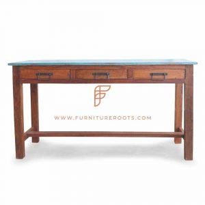 Painted Mango Wood Finish Console Table