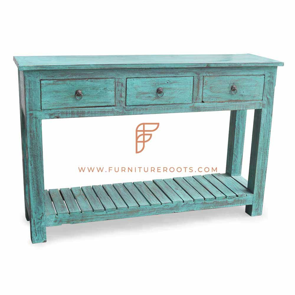 Old Village Drawer Console Table