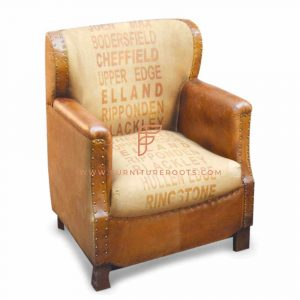 Exotic Club Armchair with Abstract Imprint