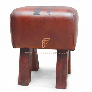 Signature Leather Tuffet Low Seat