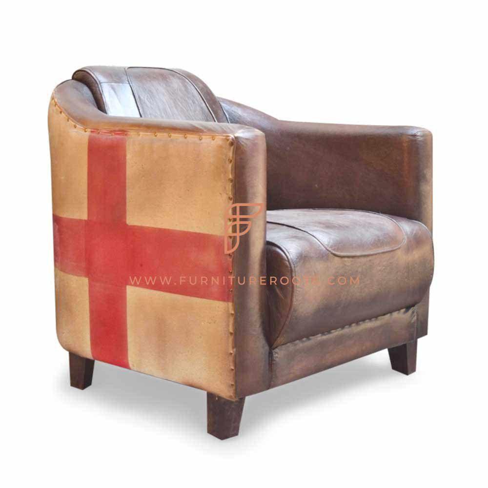 Exotic Art-Nouveau Club Chair