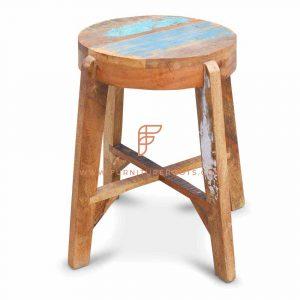Wooden Barstool: Scandinavian-style