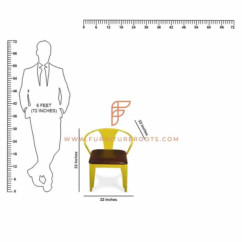 Bent-Arm Restaurant Chair