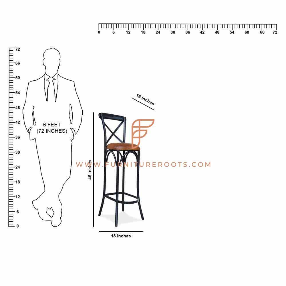 Built-to-Last Metal Bar Chair