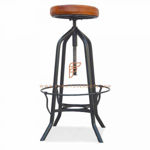 Classical Iron Frame Bar Stool