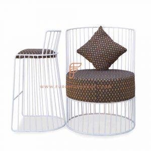 Combo de cadeiras de ferro sólido