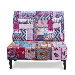 Multicolored Gudri Two Seater Sofa