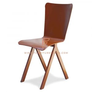 FR Chairs Series Nordic Metal Side Chair in Rust Finish