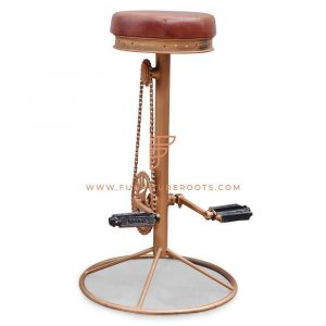 Art Deco Rustic Pub Stool