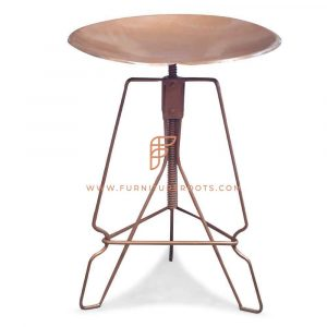 Low Height Sled-Base Metal Tractor Seat Stool
