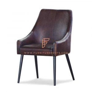 Parsons Restaurant Chair in Leather
