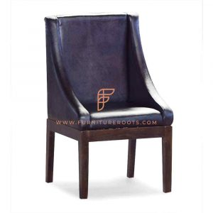 Solid Wood Leather Restaurant Chair