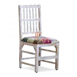 Jodhpur Patchwork Fabric Restaurant Chair