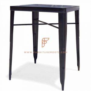 Tavolo bar da esterno in metallo nero