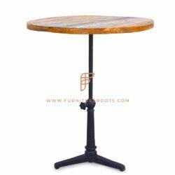 Elegante verstelbare houten bartafel