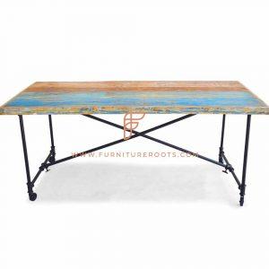Table de restaurant pliante en bois de fabrication experte