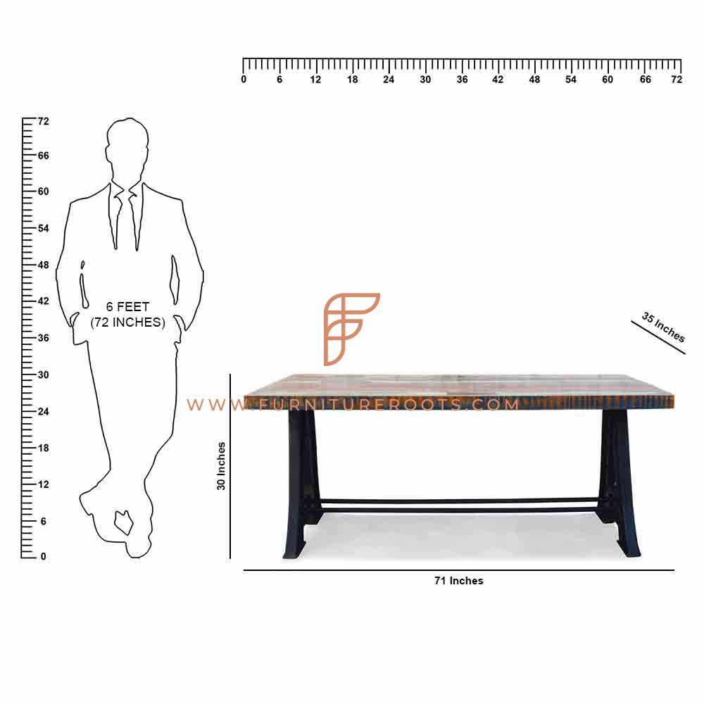 Built-To-Last Cast Iron Folding Restaurant Table