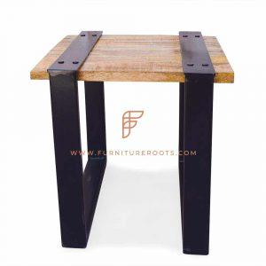 Minimalistic Metal Hotel Bedside Table