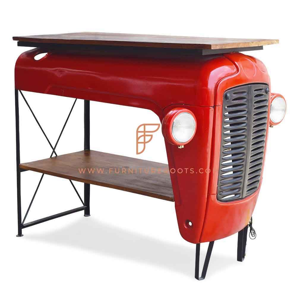 FR Automobile Counters Series Tractor Wine Counter with Solid Wood Top