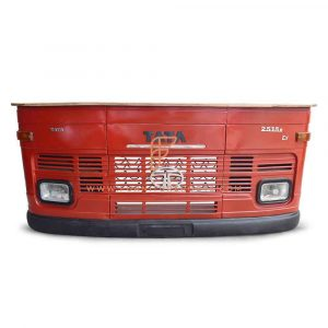 FR Automobile Counters Series Truck Bar Counter With TATA Grill Design And Wooden Top