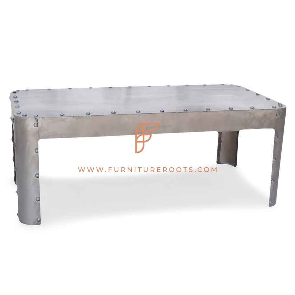 FR Coffee Tables Series Metal Rectangular Coffee Table with Domed Studs Detail