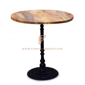 Special-Edition Oval Bar Table with Retro Style Pedestal Base